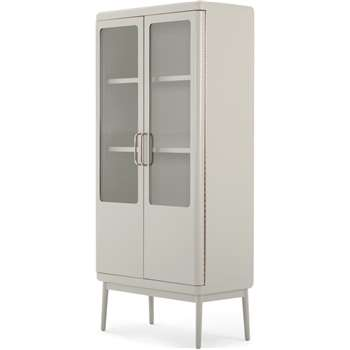Cassey Cabinet, Grey and Brass (H167 x W77 x D40cm)