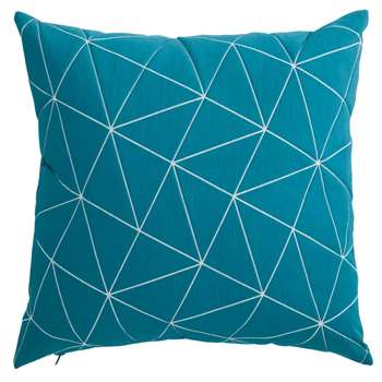 CASSIOPEE graphic blue fabric cushion (45 x 45cm)
