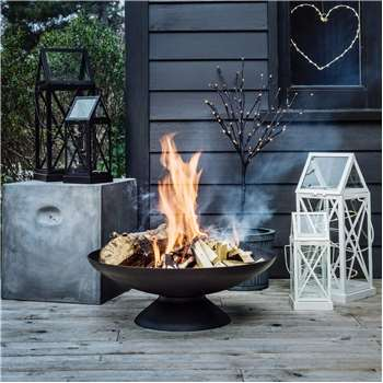 Cast Iron Fire Bowl (H20 x W60 x D60cm)