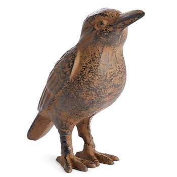 Cast Iron Kingfisher, Brown (H14 x W6.5 x D16cm)