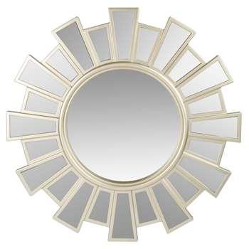 CASTELNAUD - Round Matte Gold Mirror D57 (H57 x W57 x D3cm)