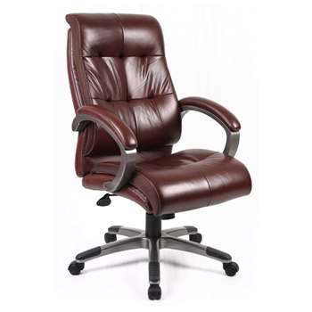 Catania Leather Executive Chair, Brown