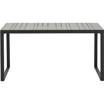Catania outdoor 6 seater dining table, polywood (73 x 147cm)