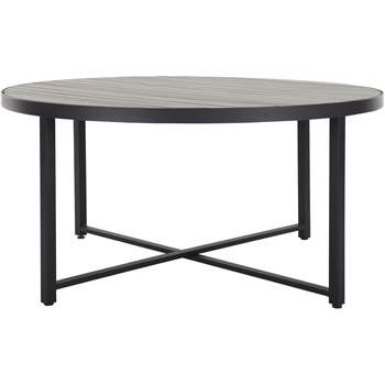 Catania Round 6 Seater Dining Table, Polywood (72 x 148cm)