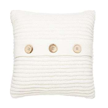 Catherine Lansfield Chunky Knit Cushion Cover, Polar (45 x 45cm)