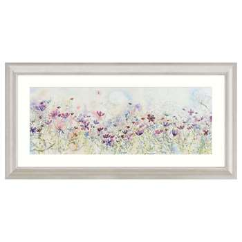 Catherine Stephenson - Meadow Of Wild Flowers Embellished Framed Print (55 x 110cm)