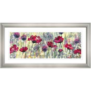Catherine Stephenson Raspberry Poppy Framed Print (H55.5 x W110.5cm)