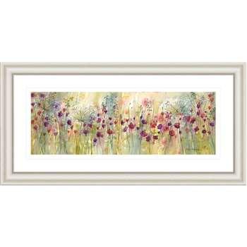 Catherine Stephenson - Spring Floral Panel Framed Print (H55.5 x W110.5cm)