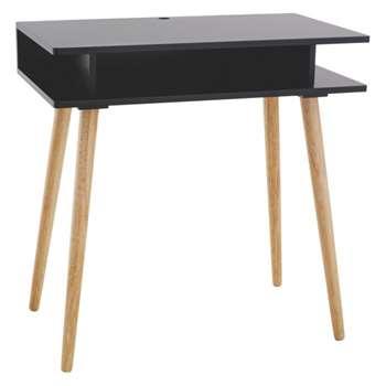 Cato Black Desk (Width 75cm)