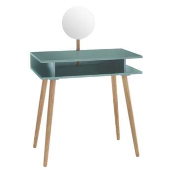 Cato Sage green dressing table with mirror (Width 75cm)