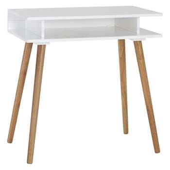 Cato White desk (Width 75cm)