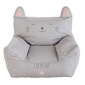 CATS Children's Printed Grey Cotton Armchair (58 x 75cm)