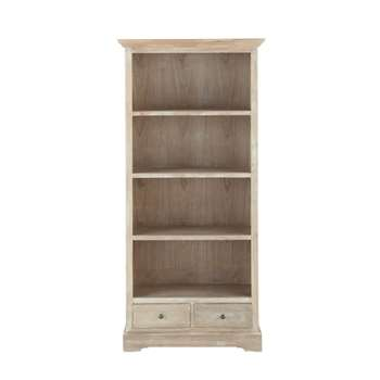 CAVAILLON Paulownia wood bookcase in grey (180 x 85cm)