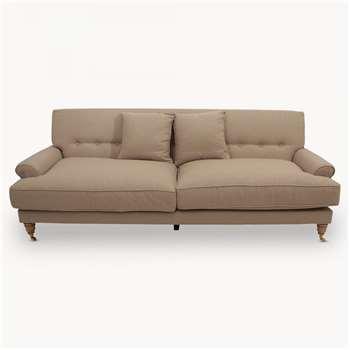 Caversham Three Seater Sofa with Wooden Legs (83 x 225cm)