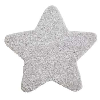 CELESTE Grey Star Rug (100 x 100cm)