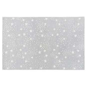 CELESTE Grey Wool Rug with Star Print (180 x 120cm)