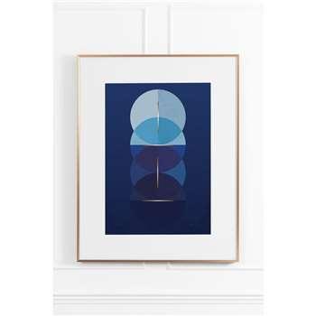 Celestial Blue No.1 - Brass Frame (H90 x W70cm)