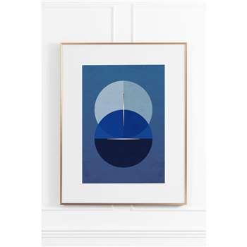 Celestial Blue No.2 - Brass Frame (H90 x W70cm)