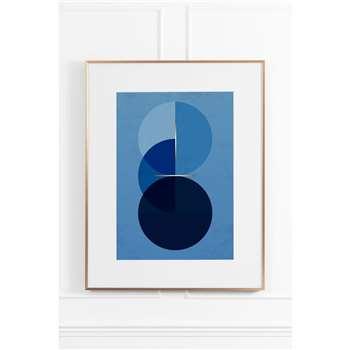 Celestial Blue No.3 - Brass Frame (H90 x W70cm)