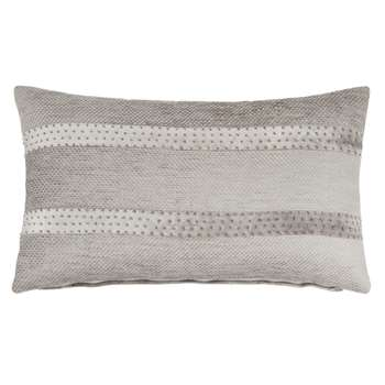 CELINE - Grey Cotton Cushion Cover (H30 x W50cm)