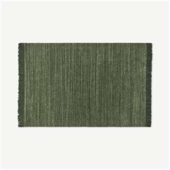 Celsi Wool Pile Rug, Dark Green (H160 x W230cm)
