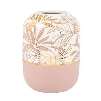 Ceramic Floral Print Vase (H24 x W17.5 x D17.5cm)