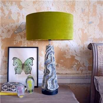 Ceramic Wave Table Lamp (H56 x W15 x D15cm)