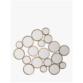 Cerchio Circles Wall Mirror, Gold (H120 x W101 x D2.5cm)