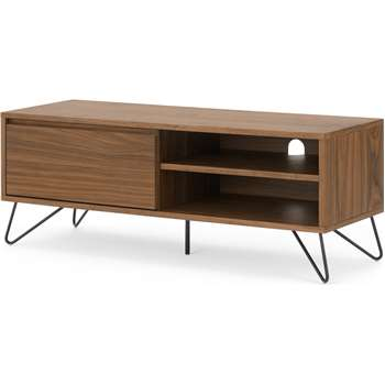 Cerian media unit, Walnut and Black (H46 x W120 x D40cm)