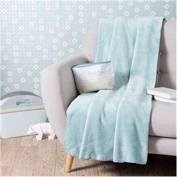 CHALEUR blanket in blue 150 x 230cm
