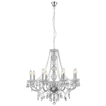 Chantelle 8 Light Clear Ceiling Light (H150 x W74 x D74cm)