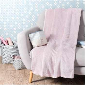 CHANTILLY pink throw (150 x 230cm)
