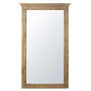 CHARLEROI - Grey-Brown Fir Mirror (H180 x W108.5 x D8cm)