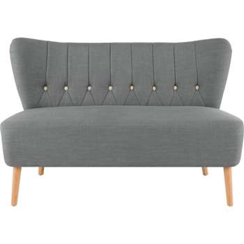 Charley 2 Seater Sofa, Graphite Grey (79 x 117cm)