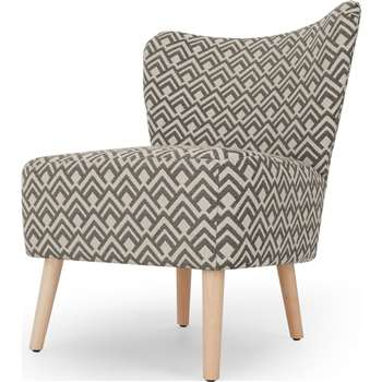 Charley Accent Armchair, Sky Geo Weave (H77 x W63 x D68cm)