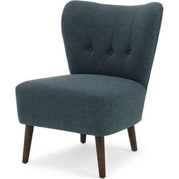 Charley Accent Chair, Aegean Blue (H77 x W63 x D68cm)