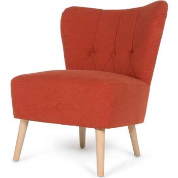 Charley Accent Chair, Retro Orange (77 x 63cm)