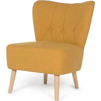 Charley Accent Chair, Yolk Yellow (77 x 63cm)