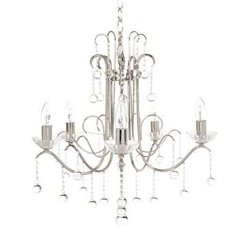 Charlotte 5Arm Chrome Chandelier (57 x 53cm)
