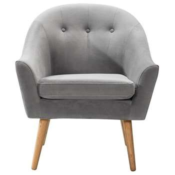 Charlotte Armchair Grey (H84 x W70 x D73cm)