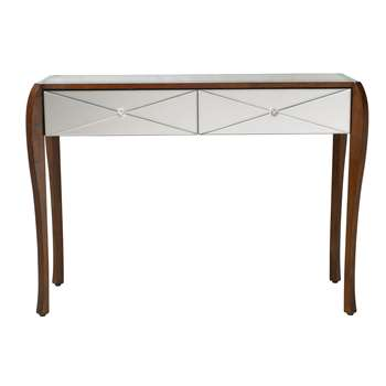 Charlston Mirrored 2 Drawer Console Table (76 x 112cm)