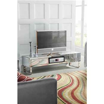 Chelsea Mirrored Media TV Cabinet (44.5 x 160cm)