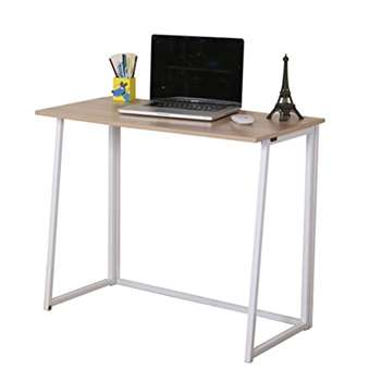 CherryTree Compact Foldable Computer Desk, Natural (H74 x W80 x D45cm)