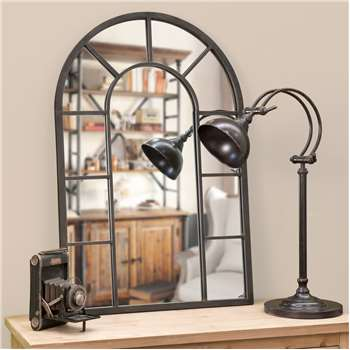 CHEVERNY - Rust Effect Metal Mirror (H90 x W60 x D3cm)