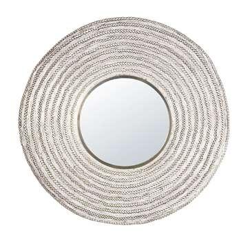 CHEYENNE - Silver Braided Metal Mirror (H100 x W100 x D5cm)