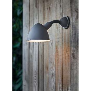 Cheyne Outdoor Wall Light in Charcoal (20 x 17cm)