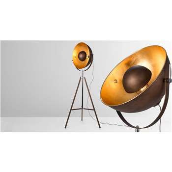 Chicago Floor Lamp, Antique Copper and Gold (164 x 67cm)