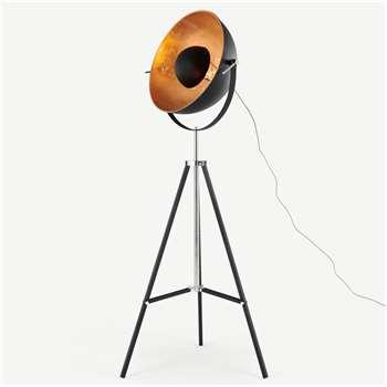 Chicago Floor Lamp, Black & Copper (H164 x W67 x D67cm)