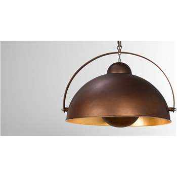 Chicago Large Pendant Light, Antique Copper and Gold (51 x 25.7cm)