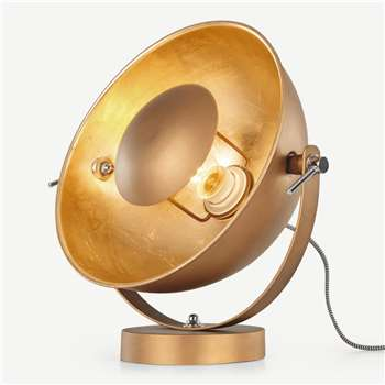 Chicago Table Lamp, Antique Copper & Gold (H35 x W30 x D15cm)